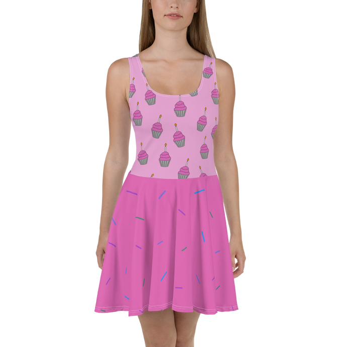 Birthday Cupcake Women's Skater Dress