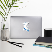 "Load image into Gallery viewer, Hammerhead Shark 4"" Vinyl Sticker"