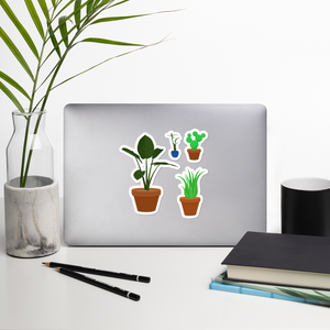 "House Plants 5.5"" Vinyl Sticker Set"