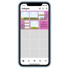 Load image into Gallery viewer, Birthday Cupcake Instagram Puzzle Grid Template - Rhonda World