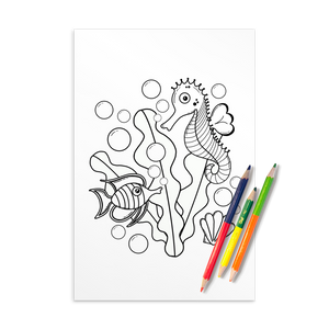 Underwater Pals Printable Coloring Sheet