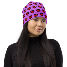 Load image into Gallery viewer, Purple Squad Hearts Adult Beanie