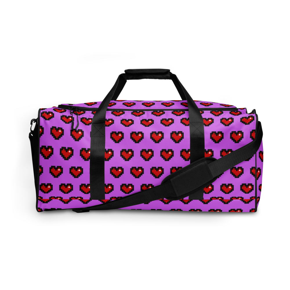 Purple Squad Hearts Duffle Bag - Rhonda World