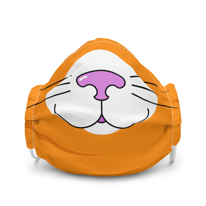 Orange Kitty Face Mask
