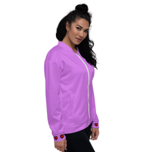 Load image into Gallery viewer, Purple Squad Unisex Bomber Jacket