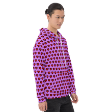Load image into Gallery viewer, Purple Squad Hearts Unisex Hoodie