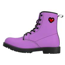 Load image into Gallery viewer, Purple Squad Vegan Leather Boots (FREE SHIPPING)