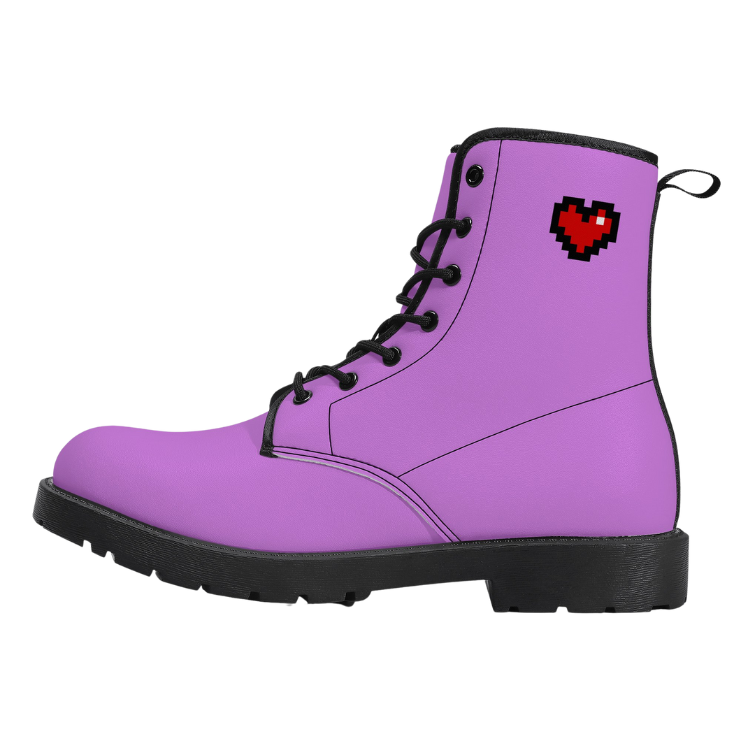 Purple Squad Vegan Leather Boots (FREE SHIPPING)