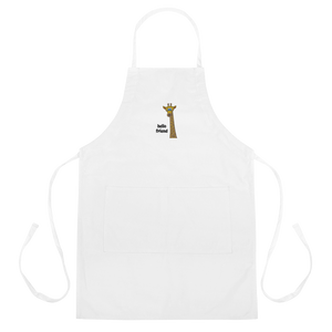 Friendly Giraffe Embroidered Apron
