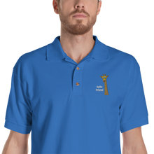 Load image into Gallery viewer, Friendly Giraffe Embroidered Men's Polo Shirt
