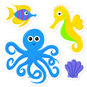 "Underwater Pals 5.5"" Sticker Set"