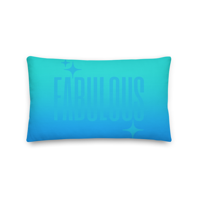 Fabulous Ghost Text Pillow