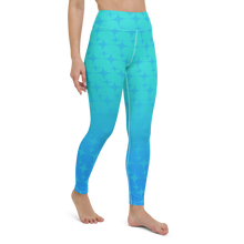 Load image into Gallery viewer, Blue Ghost Sparkle Women's Leggings