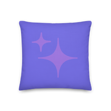 Load image into Gallery viewer, Reversible Purple Sparkle Pillow