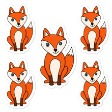 "Load image into Gallery viewer, Foxy 5.5"" Vinyl Sticker Sheet - Rhonda World"