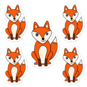 "Foxy 5.5"" Vinyl Sticker Sheet - Rhonda World"