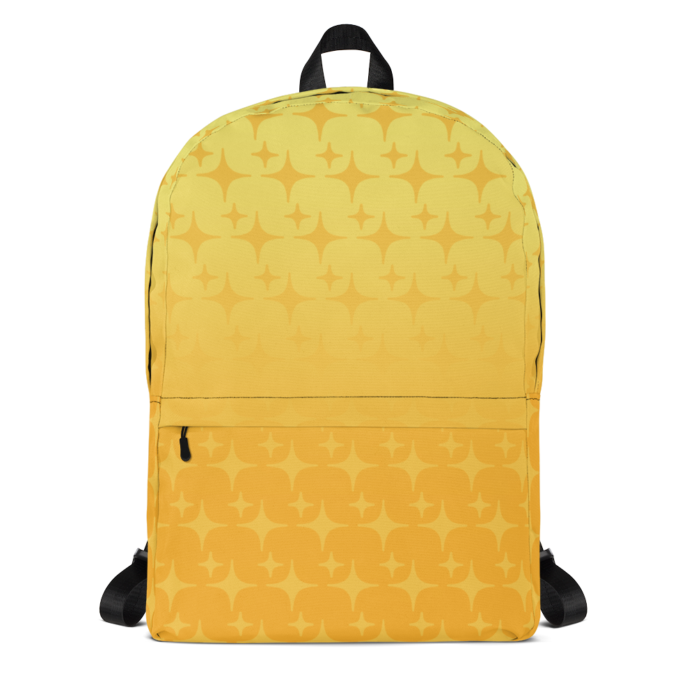 Yellow Ghost Sparkle Backpack - Rhonda World
