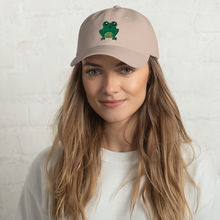 Load image into Gallery viewer, Happy Frog Embroidered Dad Hat
