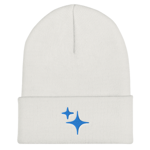 Blue Sparkle Embroidered Beanie