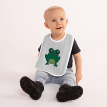 Load image into Gallery viewer, Happy Frog Embroidered Baby Bib