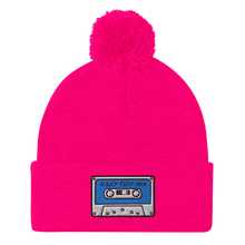 Load image into Gallery viewer, Road Trip Mix Cassette Tape Embroidered Pom-Pom Beanie