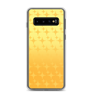 Yellow Ghost Sparkle Phone Case (Samsung Galaxy S7/S7 Edge/S8/S8+/S9/S9+/S10/S10+/S10e/S20/S20 Plus/S20 Ultra)
