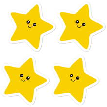 "Load image into Gallery viewer, Kawaii Stars 5.5"" Vinyl Sticker Sheet - Rhonda World"