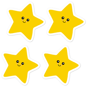 "Kawaii Stars 5.5"" Vinyl Sticker Sheet - Rhonda World"