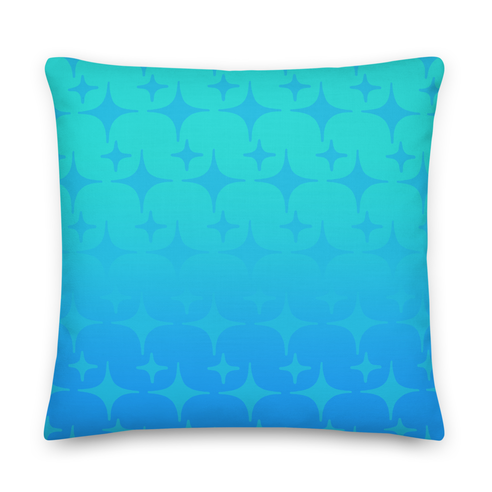 Blue Ghost Sparkle Pillow
