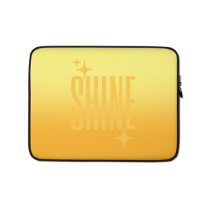 Shine Ghost Text Laptop Sleeve