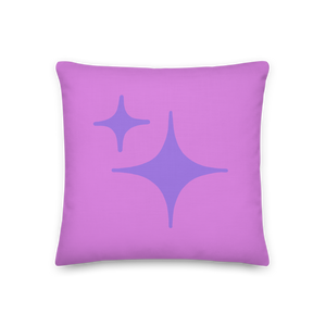 Reversible Purple Sparkle Pillow