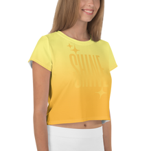 Load image into Gallery viewer, Shine Ghost Text Women's Crop Tee