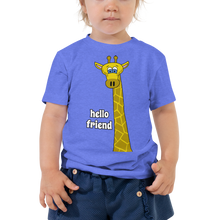 Load image into Gallery viewer, Friendly Giraffe Unisex Toddler's Tee