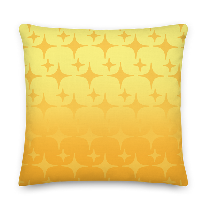 Yellow Ghost Sparkle Pillow