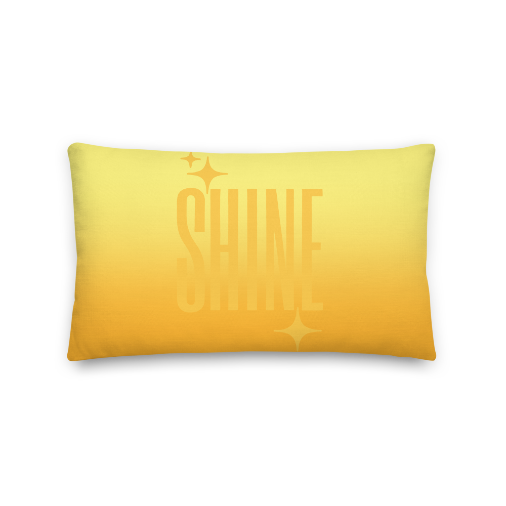 Shine Ghost Text Pillow