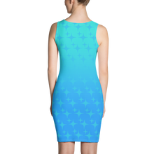 Load image into Gallery viewer, Blue Ghost Sparkle Women's Bodycon Tank Dress