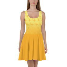 Load image into Gallery viewer, Yellow Ghost Sparkle Women's Skater Dress