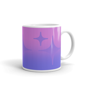 Purple Ghost Sparkle Mug - Rhonda World