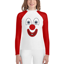 Load image into Gallery viewer, Clownify Unisex Youth Long Sleeve Athletic Shirt - Rhonda World
