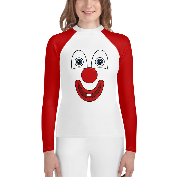 Clownify Unisex Youth Long Sleeve Athletic Shirt