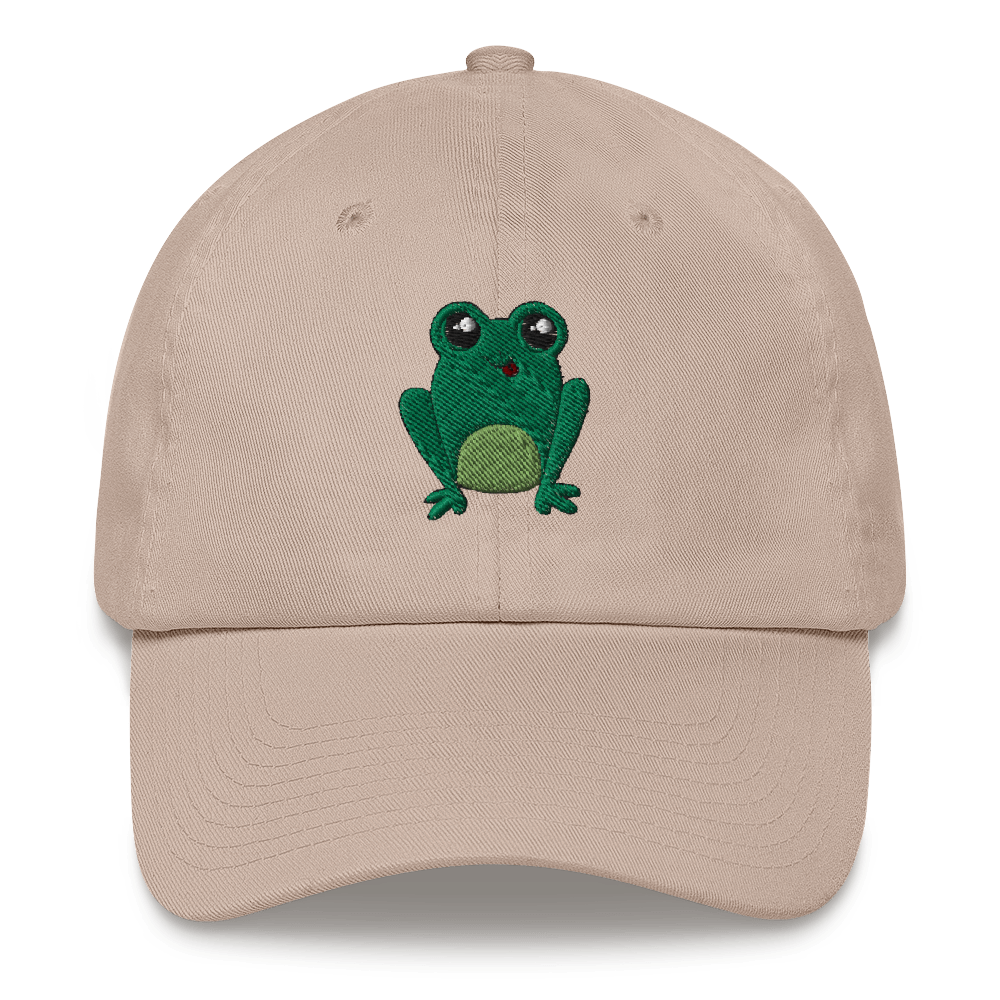 Happy Frog Embroidered Dad Hat