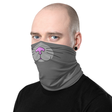 Load image into Gallery viewer, Grey Kitty Face Cover