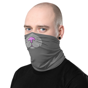 Grey Kitty Face Cover