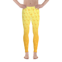 Load image into Gallery viewer, Yellow Ghost Sparkle Men's Leggings - Rhonda World