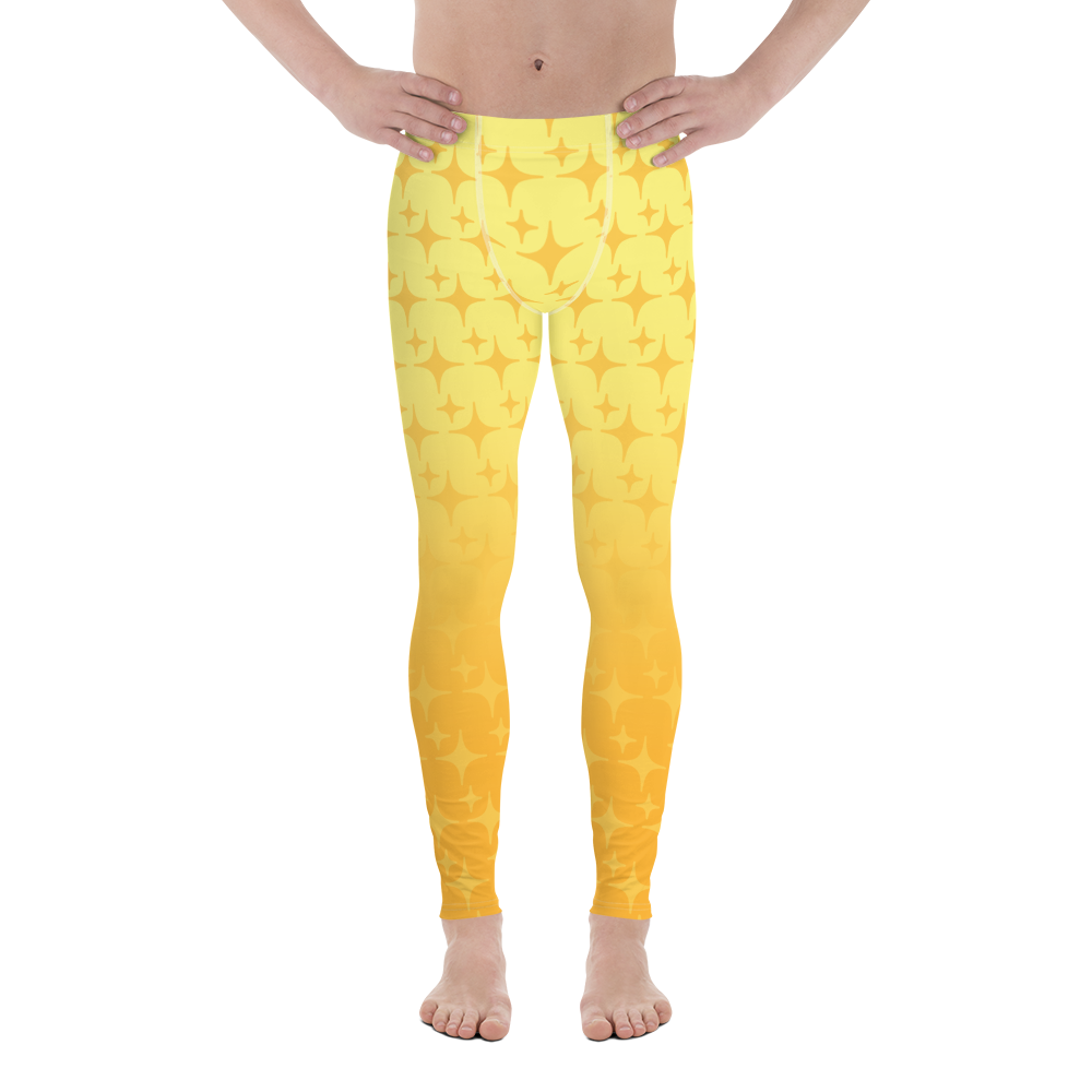 Yellow Ghost Sparkle Men's Leggings