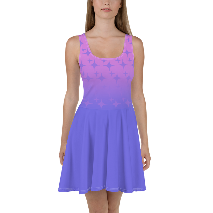 Purple Ghost Sparkle Women's Skater Dress