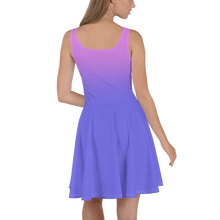 Load image into Gallery viewer, Purple Gradient Women's Skater Dress