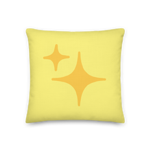 Load image into Gallery viewer, Reversible Yellow Sparkle Pillow