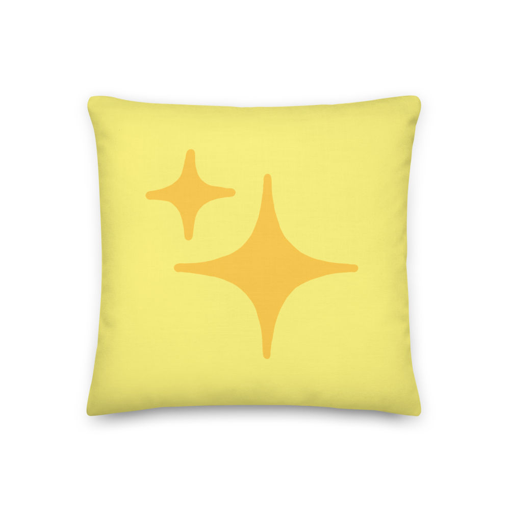 Reversible Yellow Sparkle Pillow