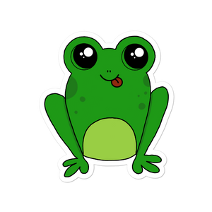"Happy Frog 4"" Vinyl Sticker - Rhonda World"